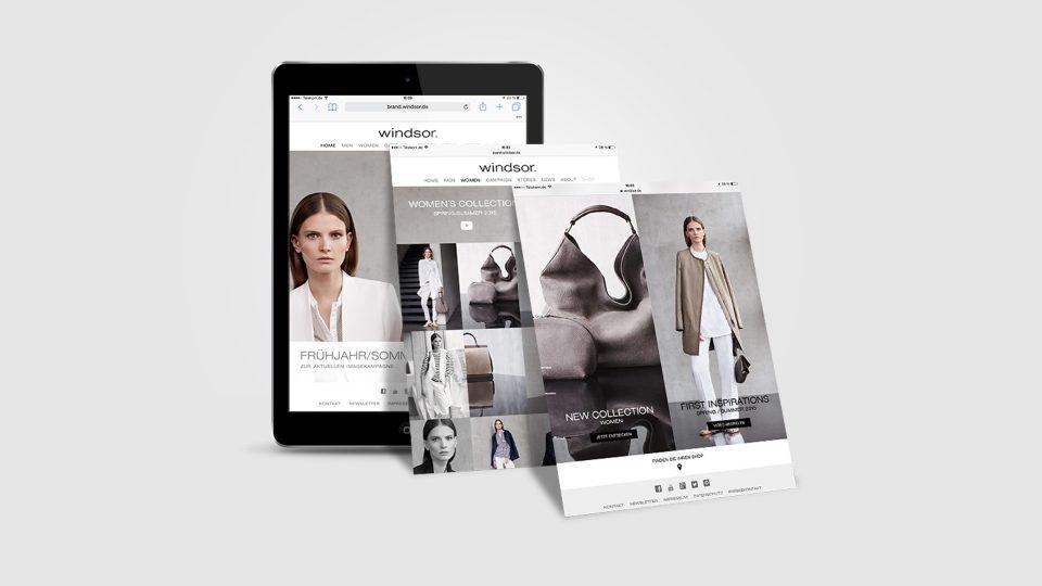 coma2 e-branding - windsor. Brand-Website - 1