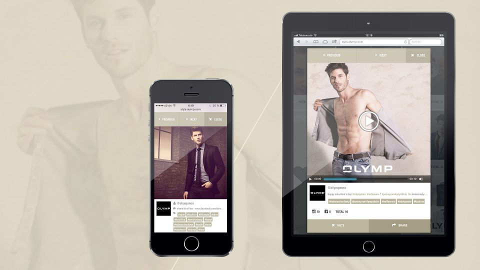 coma2 e-branding - OLYMP Instagram Kampagne - 1