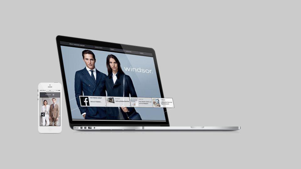 coma2 e-branding - HOLY FASHION GROUP Website - 1