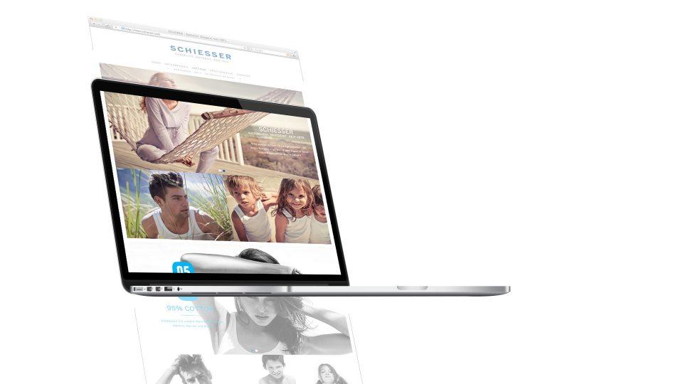 coma2 e-branding - SCHIESSER Image-Website - 1