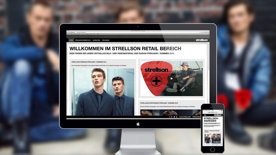 coma2 e-branding - Strellson Händlerportal - 1