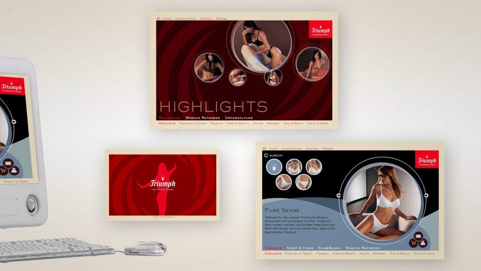 coma2 e-branding - Classics – Triumph Image-Websites - 1