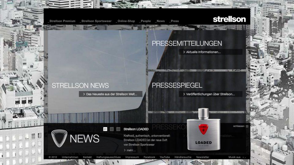 coma2 e-branding - Classics – Strellson Image-Website - 1